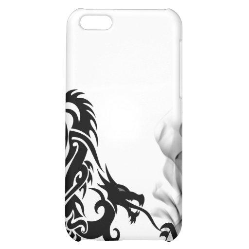 Black Dragon Breath Monogram iPhone4 Cover iPhone 5C Cover