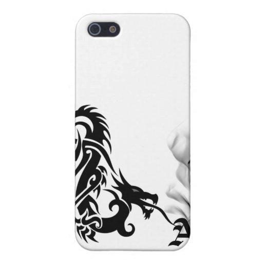Black Dragon Breath Monogram iPhone4 Cover iPhone 5 Cases