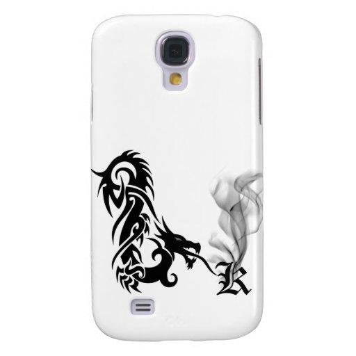 Black Dragon Breath Monogram K iPhone3G Cover Samsung Galaxy S4 Cases