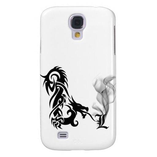 Black Dragon Breath Monogram L iPhone3G Cover Galaxy S4 Cover