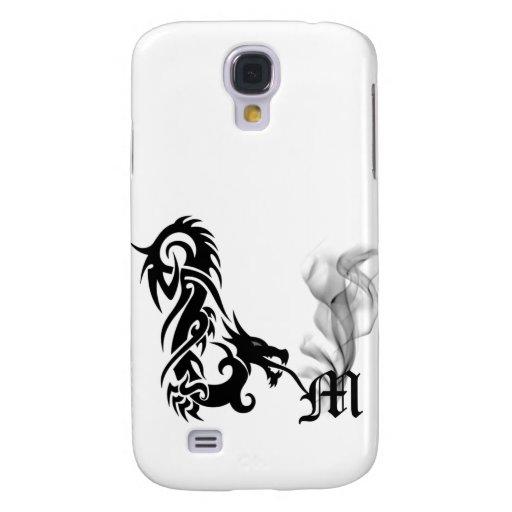 Black Dragon Breath Monogram M iPhone3G Cover Galaxy S4 Cover