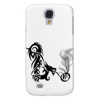 Black Dragon Breath Monogram O iPhone3G Cover Galaxy S4 Case