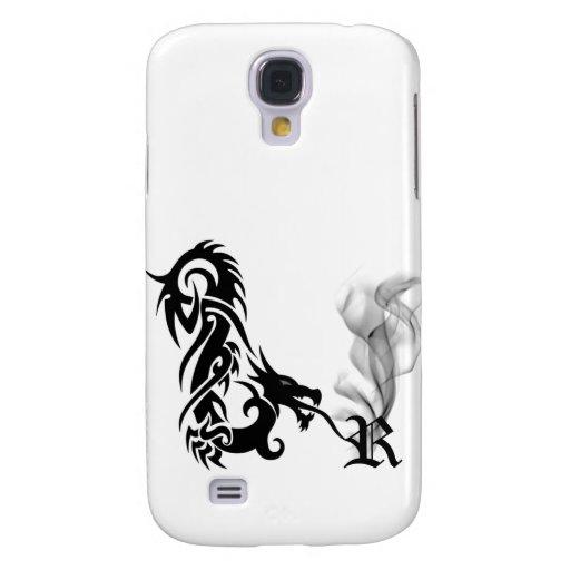 Black Dragon Breath Monogram R iPhone3G Cover Galaxy S4 Case