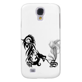 Black Dragon Breath Monogram S iPhone3G Cover Galaxy S4 Cover