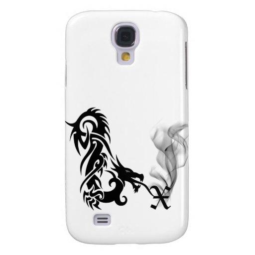 Black Dragon Breath Monogram X iPhone3G Cover Galaxy S4 Case
