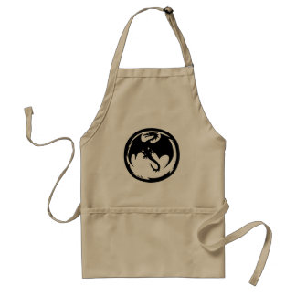 Black Dragon chef apron
