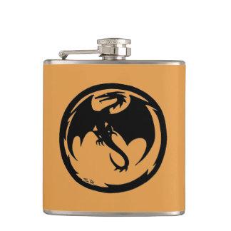 Black Dragon faux deerskin flask