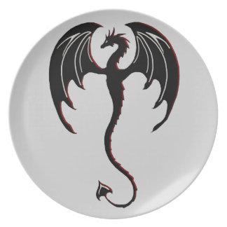black dragon flying plate