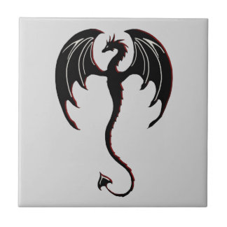 black dragon flying tile