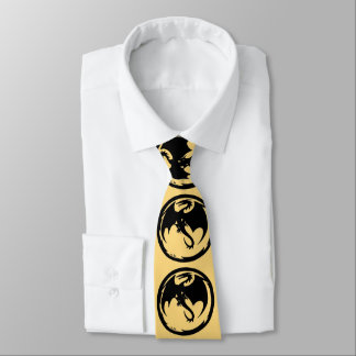 Black Dragon Gold business tie (2-sided)