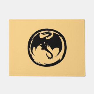 Black Dragon Gold doormat
