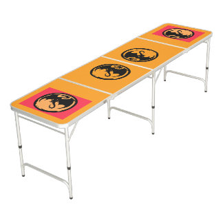 Black Dragon Gold Gold Coral pong table