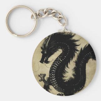 Black Dragon Key Ring
