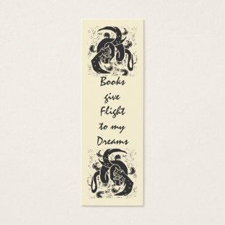 Black Dragon Mini Book Mark Mini Business Card
