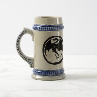 Black Dragon right-hand beer stein