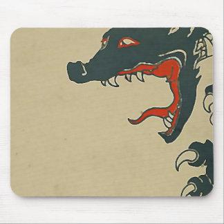 Black Dragon Roar Mouse Pads