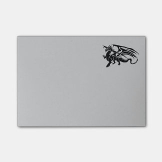 Black Dragon Silhouette Post-it Notes