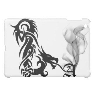 Black Dragon's Breath Monogram A iPad Cover