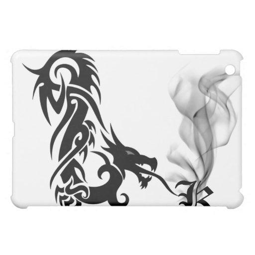 Black Dragon's Breath Monogram K iPad Cover