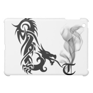 Black Dragon's Breath Monogram T iPad Cover