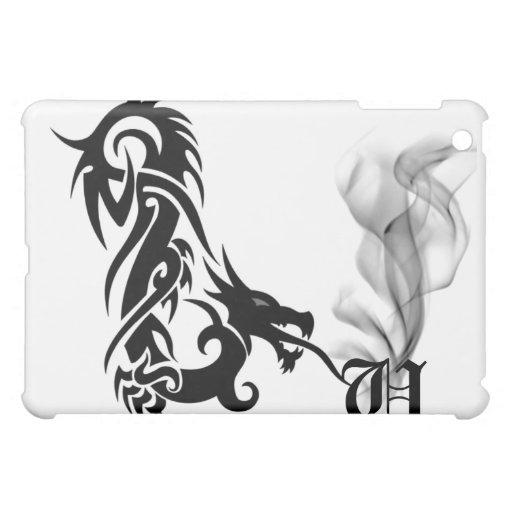 Black Dragon's Breath Monogram U iPad Cover