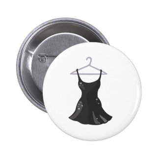 Black Dress 6 Cm Round Badge