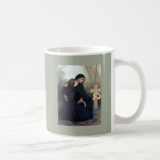 Black dress cross gothic women Bouguereau Coffee Mug