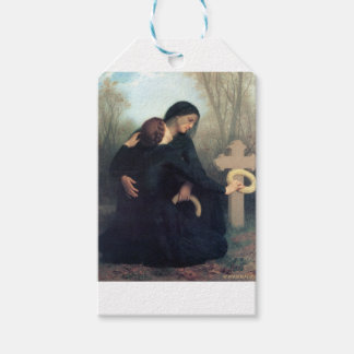 Black dress cross gothic women Bouguereau Gift Tags