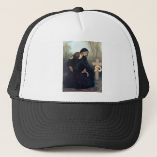 Black dress cross gothic women Bouguereau Trucker Hat