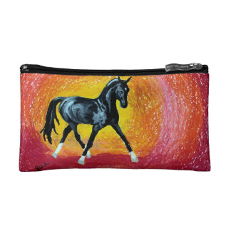 Black Dressage Stallion Makeup Bag
