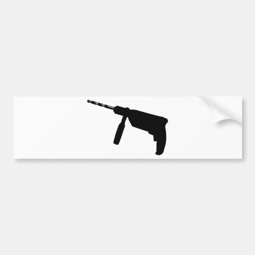 black drill machine icon bumper stickers