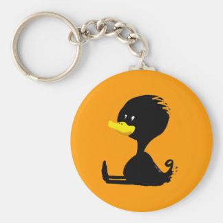 Black ducky key chain