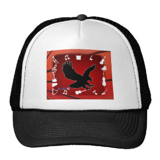 BLACK EAGLE MUSIC BACK CUSTOMIZABLE PRODUCTS MESH HATS