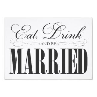 Black Eat, Drink & Be Married   Enclosure Card