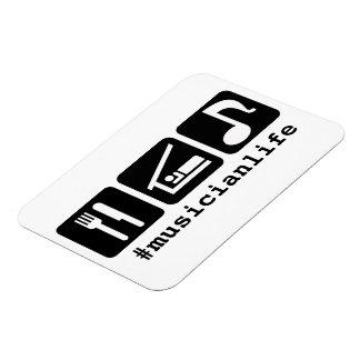 Black Eat Sleep Music Icons Rectangular Photo Magnet