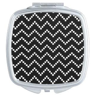 Black EB Zigzag Compact Mirror
