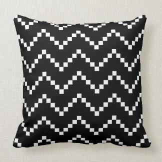 Black EB Zigzag Cushion