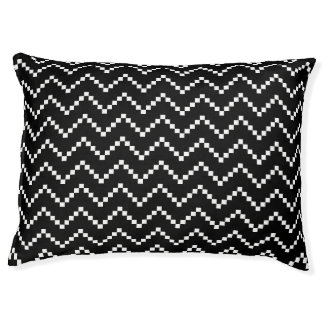 Black EB Zigzag Pet Bed