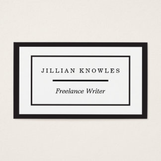 Black Edge Rectangle Nested Freelance Company Business Card