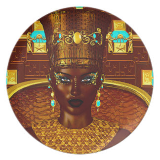 Black Egyptian princess in our modern digital art Plate