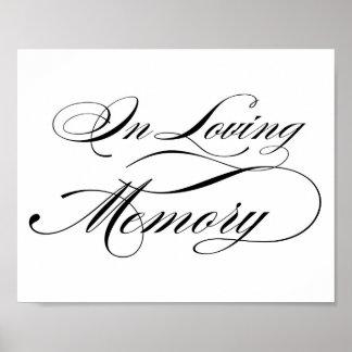 In Loving Memory Posters | Zazzle.com.au