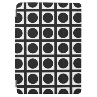 Black Elegant Grid Dots iPad Air Cover