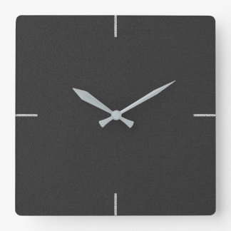 Black Elegant Plain Wall Clock