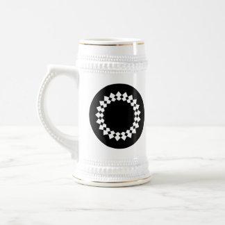 Black Elegant Round Design. Art Deco Style. Mugs