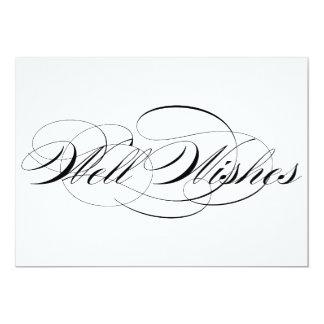 Black Elegant Script Well Wishes Wedding Sign 13 Cm X 18 Cm Invitation Card