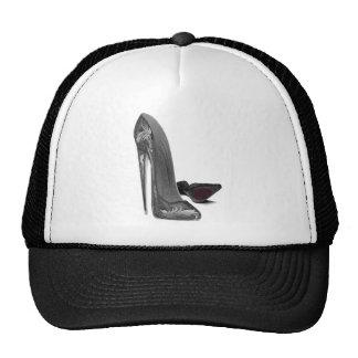 Black Elegant Stiletto Shoe Art Cap
