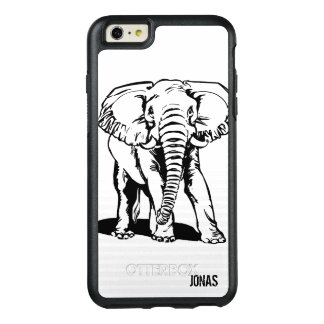 Black Elephant Illustration OtterBox iPhone 6/6s Plus Case