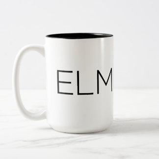 Black Elmeaux Two-Tone Coffee Mug