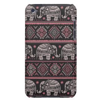 Black Ethnic Elephant Pattern iPod Touch Case-Mate Case