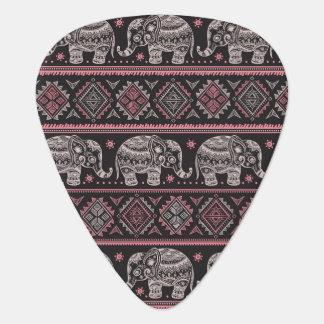 Black Ethnic Elephant Pattern Plectrum